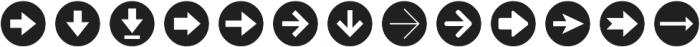Arrrows Bold ttf (700) Font LOWERCASE