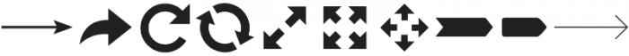 Arrrows ttf (400) Font OTHER CHARS