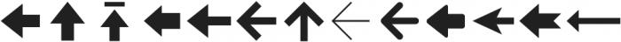 Arrrows ttf (400) Font UPPERCASE