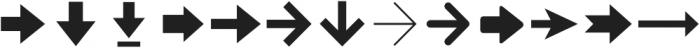 Arrrows ttf (400) Font LOWERCASE