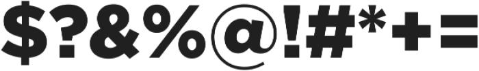 Arson Pro Black otf (900) Font OTHER CHARS