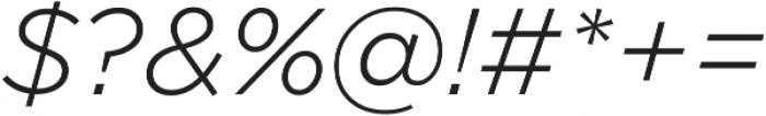 Arson Pro Light Italic otf (300) Font OTHER CHARS
