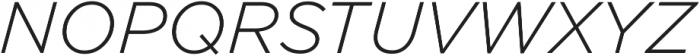 Arson Pro Light Italic otf (300) Font UPPERCASE