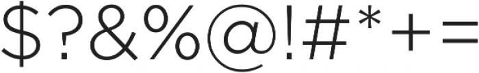 Arson Pro Light otf (300) Font OTHER CHARS