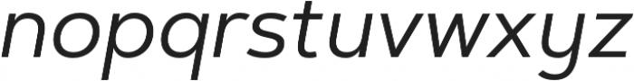 Artegra Sans Alt Regular Italic otf (400) Font LOWERCASE