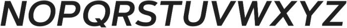 Artegra Sans Alt SemiBold Italic otf (600) Font UPPERCASE