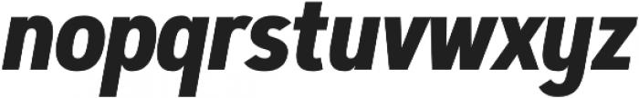 Artegra Sans Condensed Alt Bold Italic otf (700) Font LOWERCASE