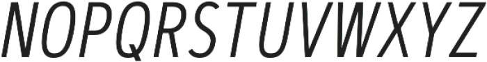 Artegra Sans Condensed Alt Light Italic otf (300) Font UPPERCASE