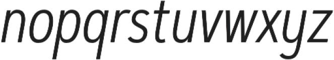 Artegra Sans Condensed Alt Light Italic otf (300) Font LOWERCASE