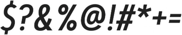Artegra Sans Condensed Alt Medium Italic otf (500) Font OTHER CHARS
