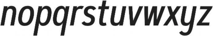 Artegra Sans Condensed Alt Medium Italic otf (500) Font LOWERCASE