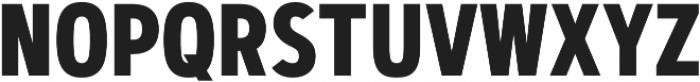 Artegra Sans Condensed Bold otf (700) Font UPPERCASE