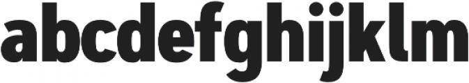Artegra Sans Condensed ExtraBold otf (700) Font LOWERCASE