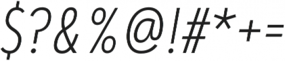 Artegra Sans Condensed ExtraLight Italic otf (200) Font OTHER CHARS