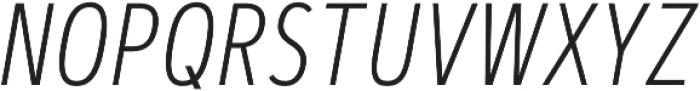 Artegra Sans Condensed ExtraLight Italic otf (200) Font UPPERCASE