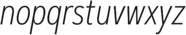 Artegra Sans Condensed ExtraLight Italic otf (200) Font LOWERCASE