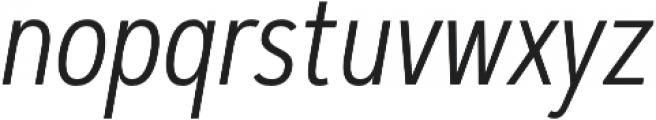 Artegra Sans Condensed Light Italic otf (300) Font LOWERCASE