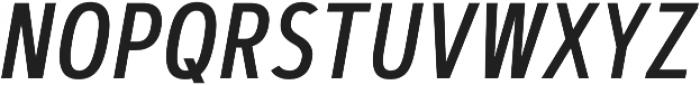 Artegra Sans Condensed Medium Italic otf (500) Font UPPERCASE