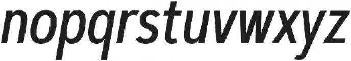Artegra Sans Condensed Medium Italic otf (500) Font LOWERCASE