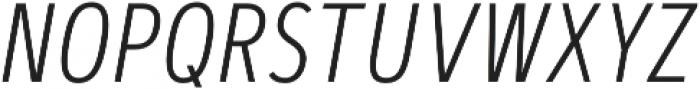 Artegra Sans Condensed SC ExtraLight Italic otf (200) Font LOWERCASE