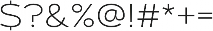 Artegra Sans Extended Alt ExtraLight otf (200) Font OTHER CHARS