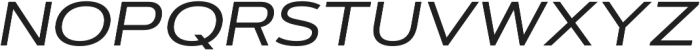 Artegra Sans Extended Alt Medium Italic otf (500) Font UPPERCASE