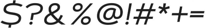 Artegra Sans Extended Alt Regular Italic otf (400) Font OTHER CHARS