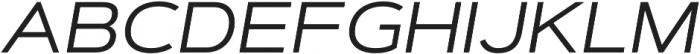 Artegra Sans Extended Alt Regular Italic otf (400) Font UPPERCASE