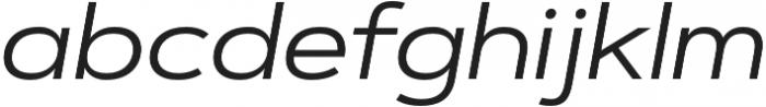 Artegra Sans Extended Alt Regular Italic otf (400) Font LOWERCASE
