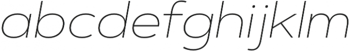 Artegra Sans Extended Alt Thin Italic otf (100) Font LOWERCASE