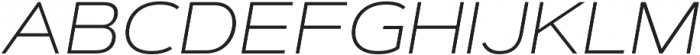 Artegra Sans Extended ExtraLight Italic otf (200) Font UPPERCASE
