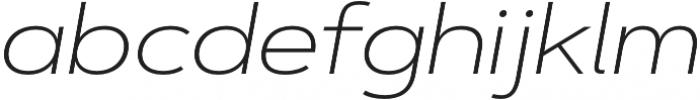 Artegra Sans Extended ExtraLight Italic otf (200) Font LOWERCASE