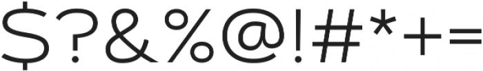 Artegra Sans Extended Light otf (300) Font OTHER CHARS
