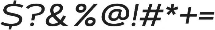 Artegra Sans Extended Medium Italic otf (500) Font OTHER CHARS