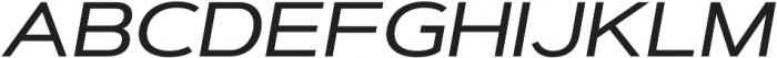 Artegra Sans Extended Medium Italic otf (500) Font UPPERCASE