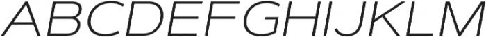 Artegra Sans Extended SC ExtraLight Italic otf (200) Font LOWERCASE