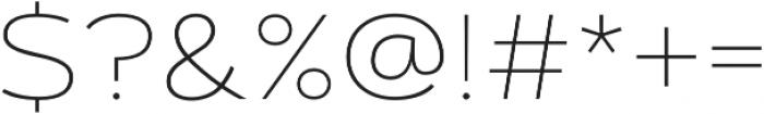 Artegra Sans Extended SC Thin otf (100) Font OTHER CHARS
