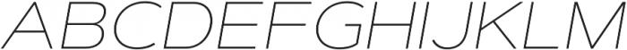 Artegra Sans Extended Thin Italic otf (100) Font UPPERCASE