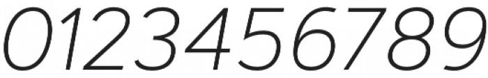 Artegra Sans ExtraLight Italic otf (200) Font OTHER CHARS