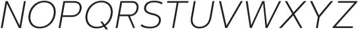 Artegra Sans ExtraLight Italic otf (200) Font UPPERCASE