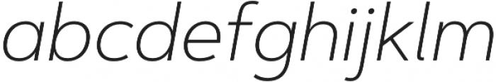 Artegra Sans ExtraLight Italic otf (200) Font LOWERCASE