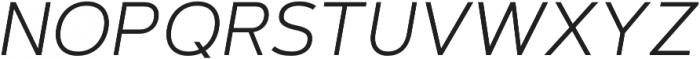 Artegra Sans Light Italic otf (300) Font UPPERCASE