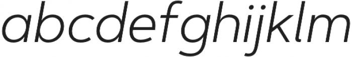 Artegra Sans Light Italic otf (300) Font LOWERCASE