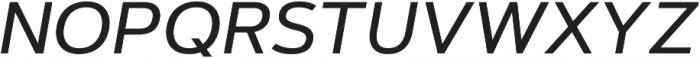 Artegra Sans Medium Italic otf (500) Font UPPERCASE