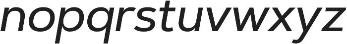Artegra Sans Medium Italic otf (500) Font LOWERCASE