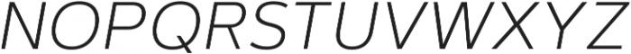 Artegra Sans SC ExtraLight Italic otf (200) Font LOWERCASE