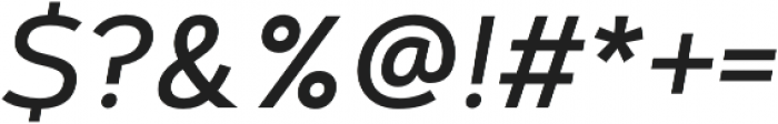 Artegra Sans SC Medium Italic otf (500) Font OTHER CHARS