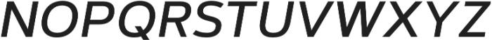 Artegra Sans SC Medium Italic otf (500) Font LOWERCASE
