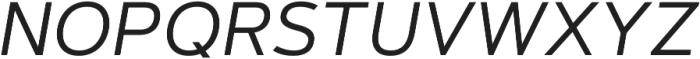 Artegra Sans SC Regular Italic otf (400) Font UPPERCASE