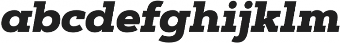 Artegra Slab Black Italic otf (900) Font LOWERCASE